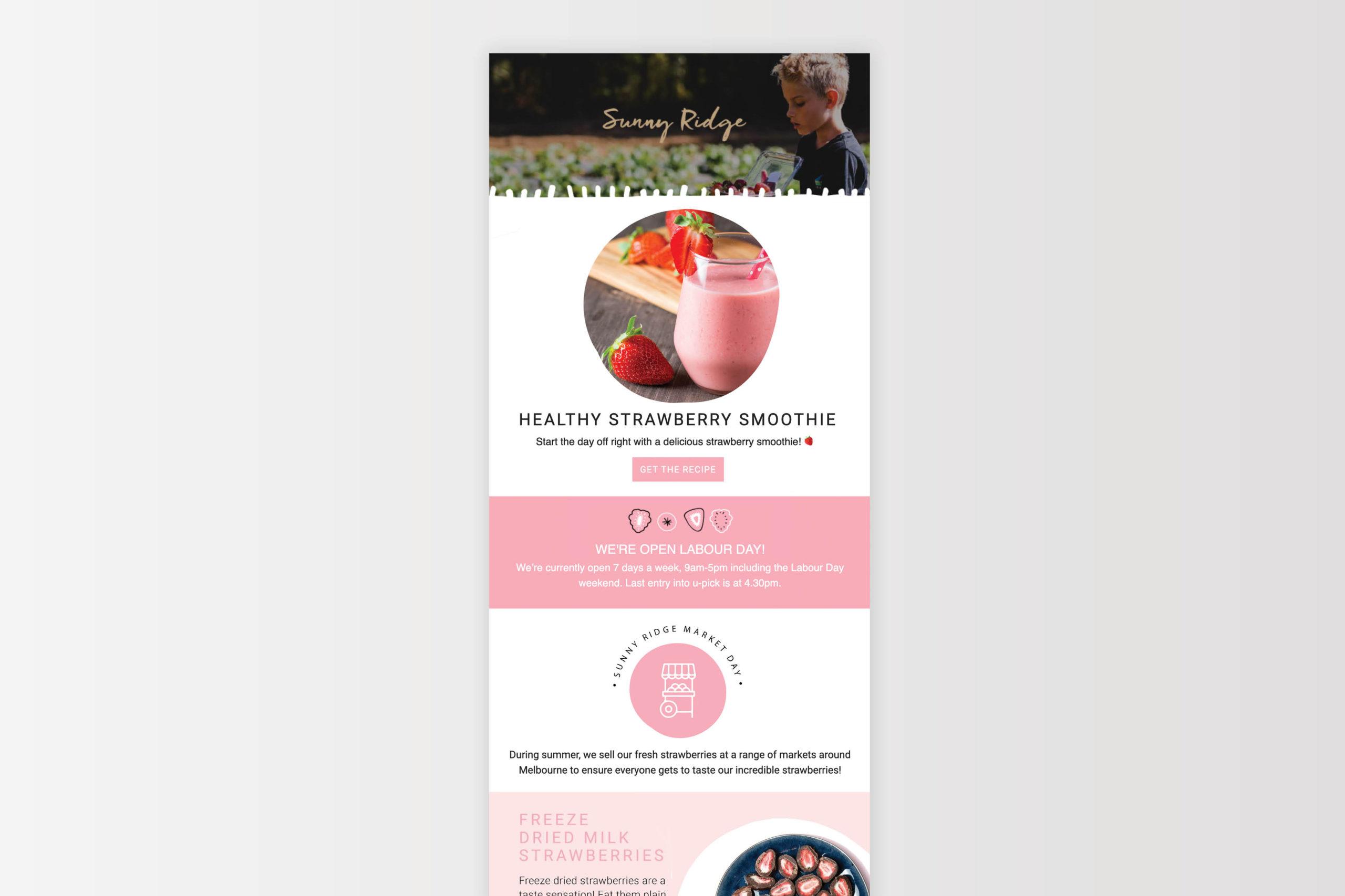 Sunny Ridge Packaging Email Marketing