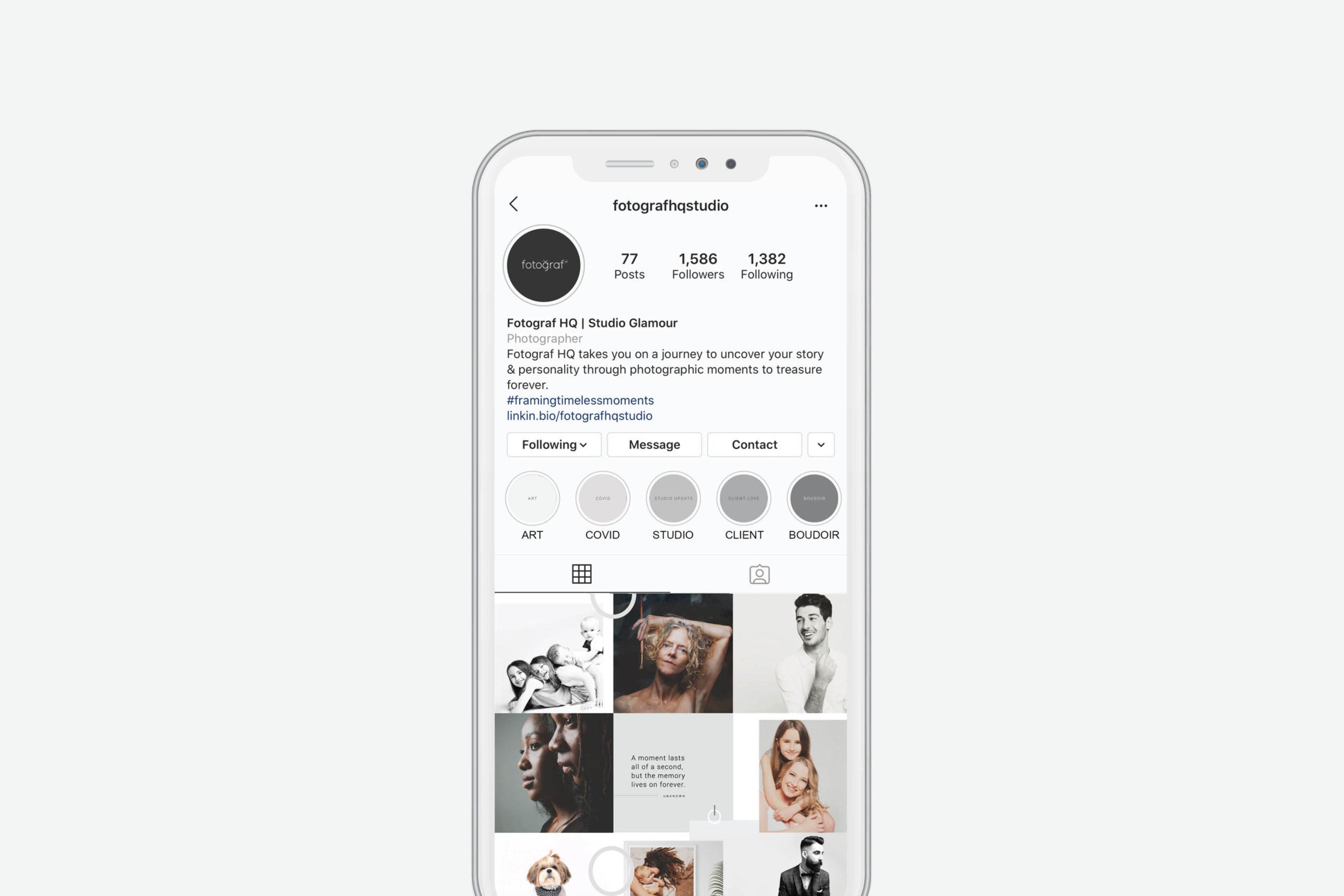 Fotograf HQ Rebrand Social Media